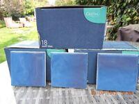 Three boxes of Johnson's Cristal ceramic tiles