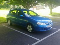 2001 NISSAN ALMERA 5 DOOR, FULL YEAR MOT - P/X TRADE IN WELCOME