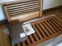 Top of the range Futon Company Horizon 2 seater Solid Oak sofa bed, RRP£1208.