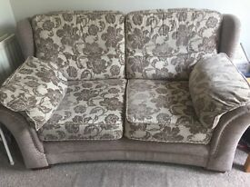 Dfs 2 seater sofa with reclining chair. Smoke and pet free home. To be collected this weekend