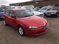 2006 ALFA ROMEO 147 16V WITH FULL SERVICE HISTORY LONG MOT LOVELY DRIVER CD RACING RED PX WELCOME