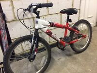 """Boys 19"""" bike in red and black"""