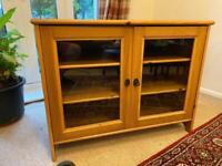 Leksvik IKEA Solid Pine Wood TV Unit
