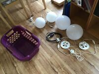 Glass Ball Lamps REDUCED