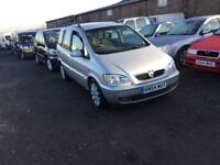 54 reg Vauxhall zafira Diesel AUTOMATIC full service history drives really well 7 seater family car