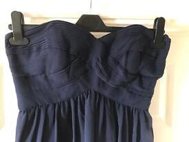 Coast Chiffon Knee Length Navy Occassion Dress
