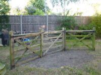 5 bar gates - Hardwood - 3 x 5ft wide - 15ft