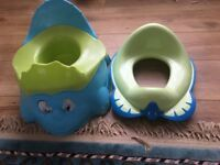 Baby potty and training toilet seat