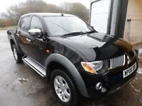 2006 MITSUBISHI L200 ELEGANCE BLACK , 99k LEATHER SEATS , TOP SPEC, AUTO , L200 DEALER