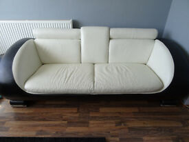 For sale sofa 3 seater retro design italian leather