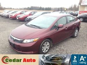 2012 Honda Civic LX 1 Owner - FREE WINTER TIRE PACKAGE London Ontario image 1