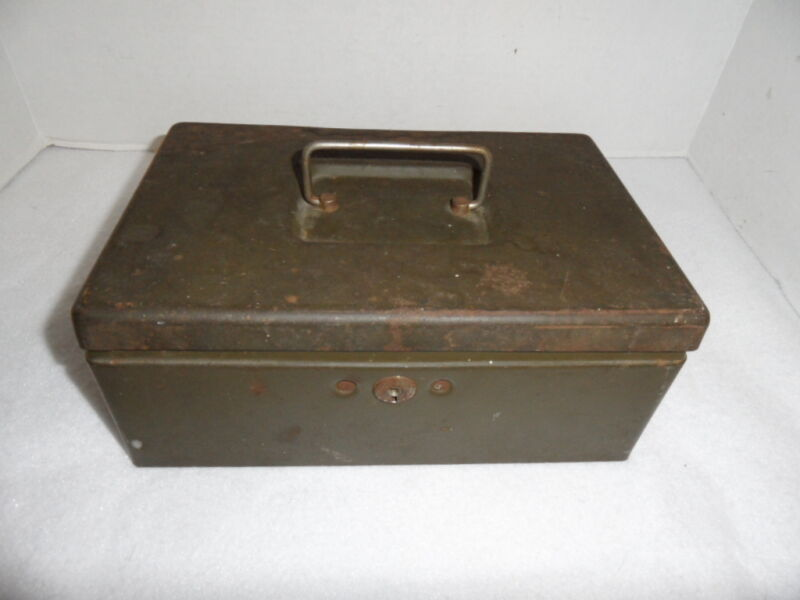Vintage New Britain Machine Company Cash Box with Key