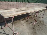 steel builders trestles and planks