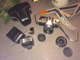 Olympus OM20 35mm camera + 28mm f/2.8 lens + 50mm f/1.8 lens + T20 flash + Kodak Portra 160