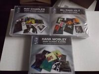 great jazz cd boxsets, ray charles, bill evans & hank mobley