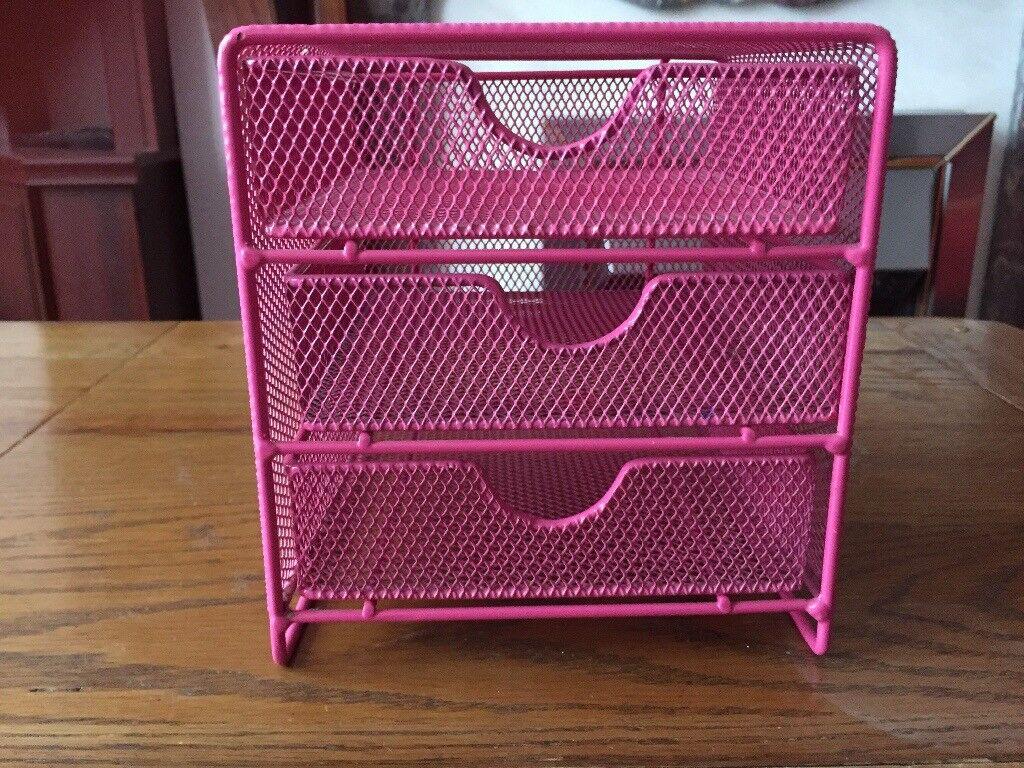 Small mesh storage drawers