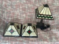 Past Times table lamp & 2 light shades