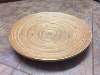Ikea Large shallow wooden platter or fruit bowl