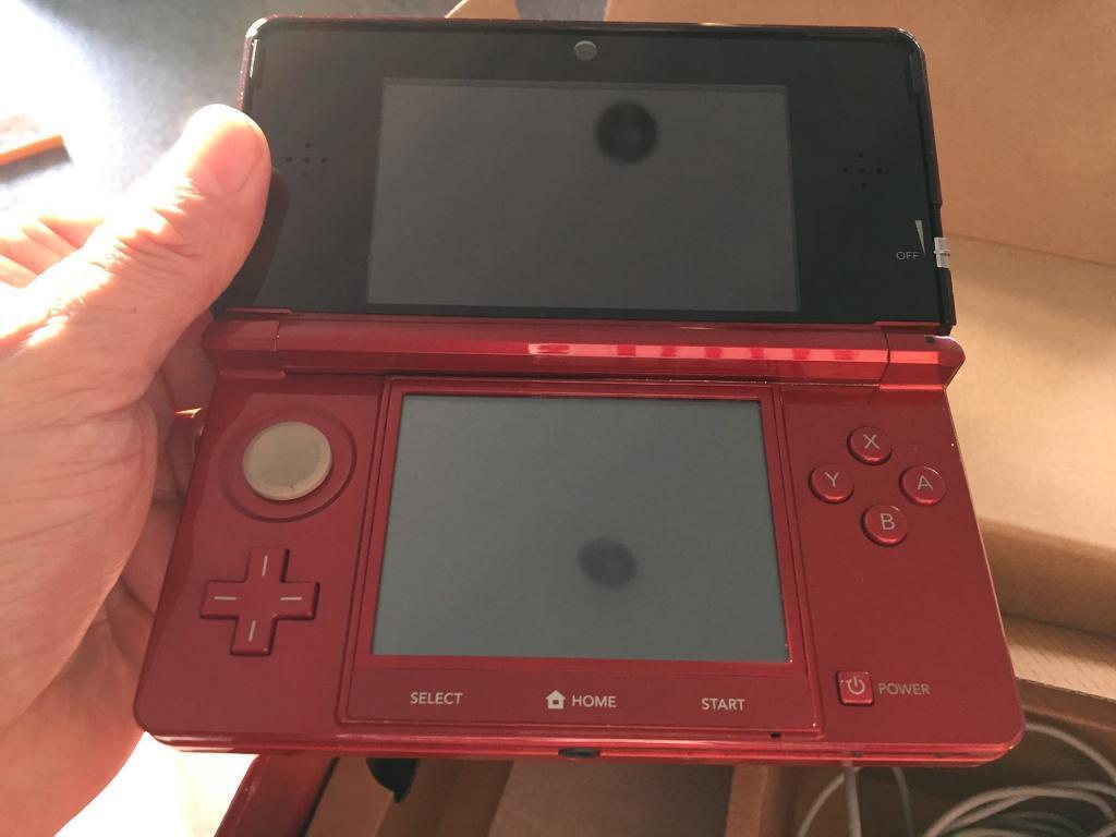Nintendo 3DS Red with Mario Bros 2