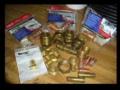 Lot Copper Push Fit Plumbing Fittings Brass Compression Gas Water