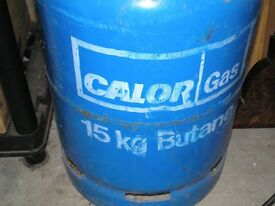 Butane gas bottle 15kg in good condition,still has some gas.
