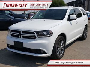 2017 Dodge Durango GT | AWD - Heated Leather, Uconnect, DVD