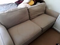 Good quality sofa, beige colour only 2 years old and very comfortable