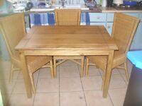 MEXICAN CORONA PINE TABLE AND CHAIRS