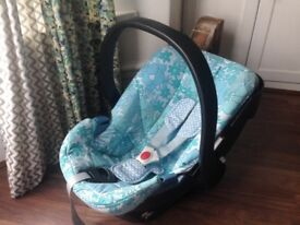 Cybex Aton 0+ Baby Car Seat Carrier Retro 70's Floral