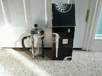 Large 8 Cup Cafetiere with original Box