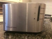 Brushed Stainless Steel Russell Hobbs toaster