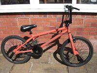 BMX stunt bike ( X Rated Decoy in Orange). Very good condition.