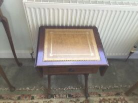 Vintage Antique small side Table, folding wings