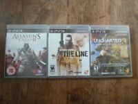 PS3 games Uncharted 3, Spec ops the line, Assassins creed 2 - £4ea