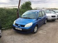2005,Renault scenic 1400 cc engine very clean car 1years mot good driver cheap to insure any trial