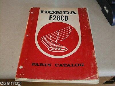 Honda Generator F28cd Parts Break Down Catalog 1970