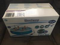 Best way fast set swimming pool 8 ft with filter pump brand new in box