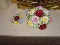 Pair Royal Doulton Bone China Flower Baskets