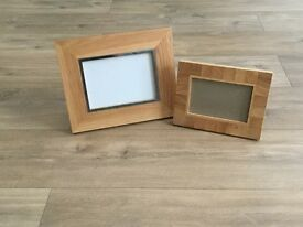 Light wood picture frames