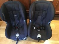 Pair of Maxi Cosi Priori car seats - age 9 months up to 4 years