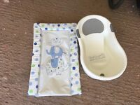 Baby changing mat and bath