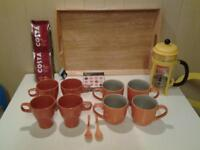 MACMILLAN COFFEE MORNING? .. ALL NEW+UNUSED CAFETIERE, CUPS+MUGS ETC.
