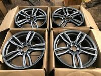 "New 18"" Wolfrace Evolution VW Transporter T5 T6 Load rated alloy wheels CAN POST"