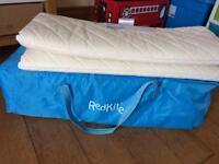 Red kite travel cot with extra mattress