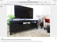 Buy this Ikea Hemnes TV Media Bench BlackBrown and get a FREE coordinating Lack coffee table!
