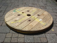Cable Reel/Drum Table Top , 90cm Upcycled/Craft project.