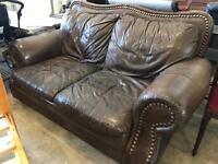 Stunning leather 2 seater sofa