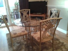 Great glass top table and 4 chairs