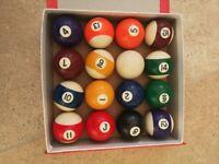 "Pool Balls - Supapro - 2 3/16"" Diameter, plus baize brush"