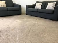 Grey dfs 3&2 seater sofas, couches, furniture 🚛🚚🚛
